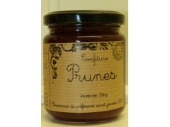 confiture de Prunes Rouges pot de 230 g